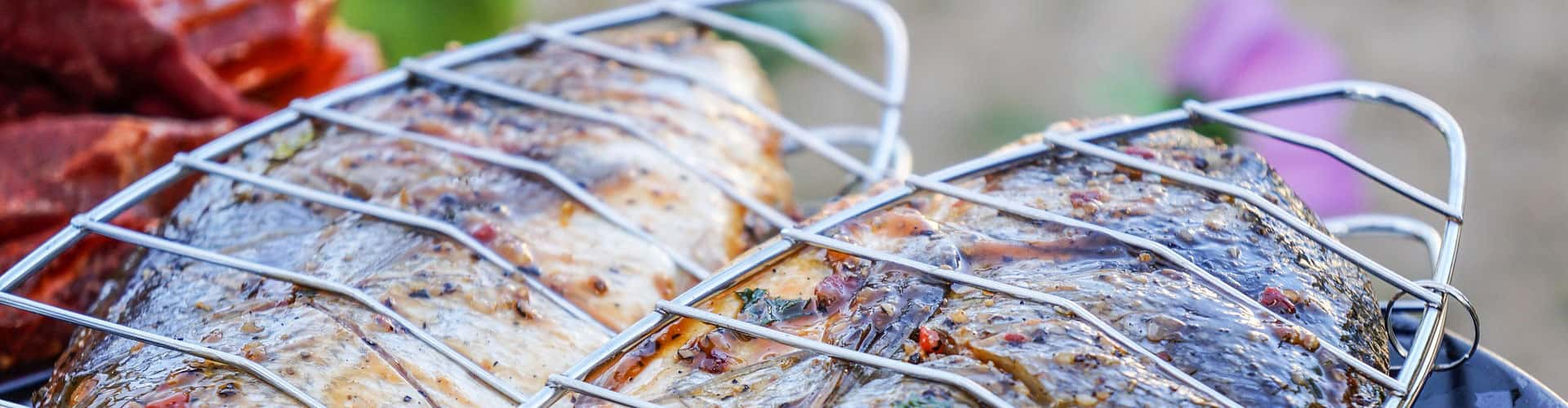 Photo of finfish being grilled.